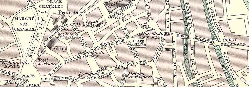 Carte de Chartres en 1914 Chartr13