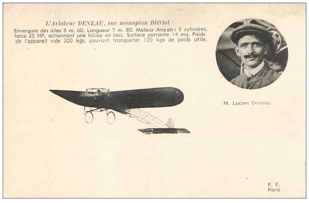 Le célèbre Aviateur civil et militaire Lucien DENEAU Deneau13