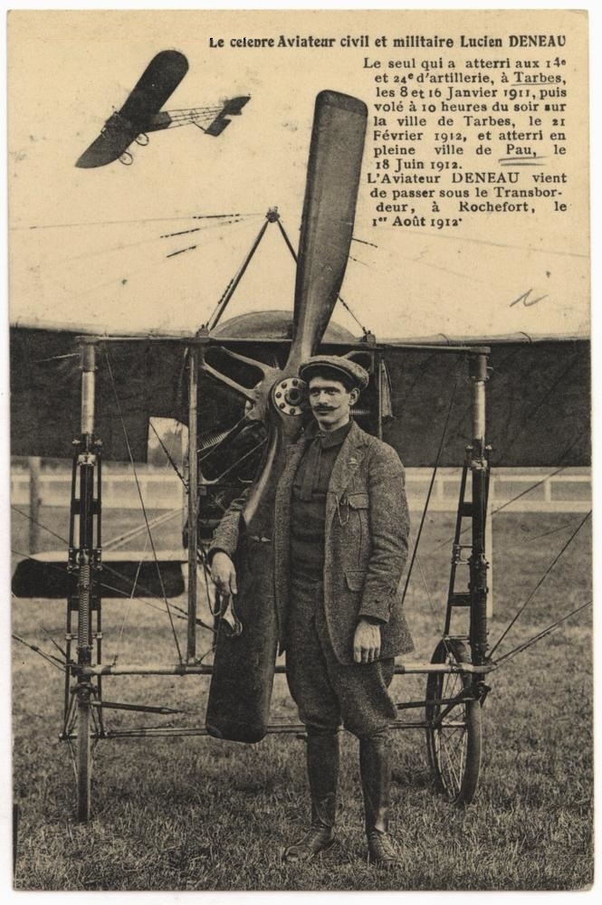 Le célèbre Aviateur civil et militaire Lucien DENEAU Deneau16