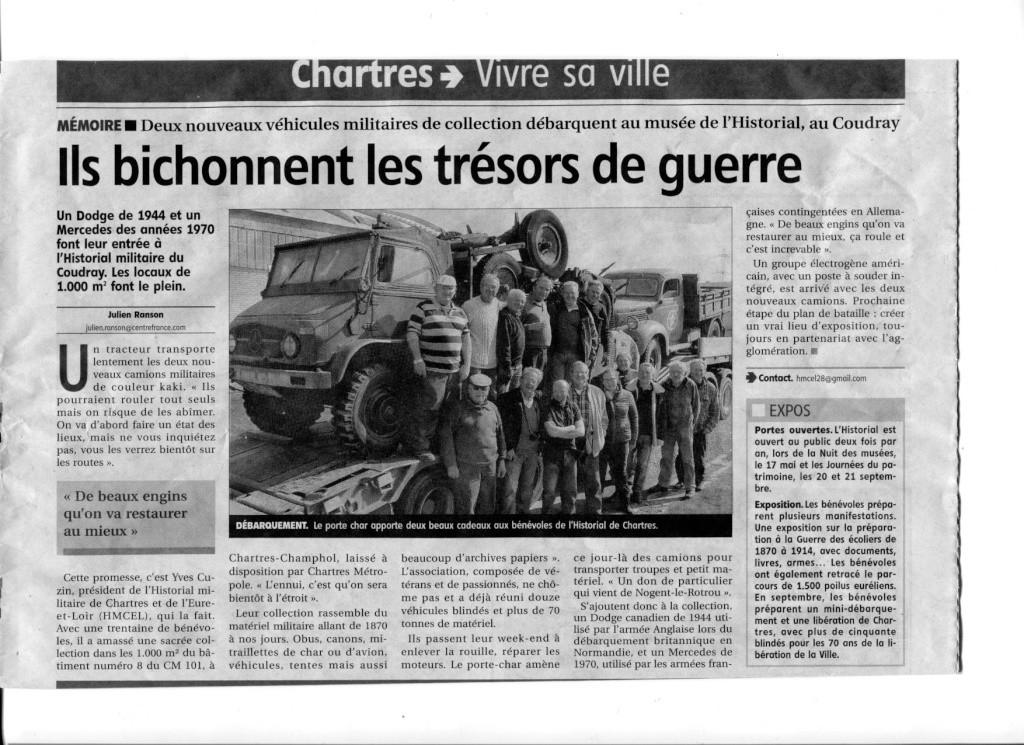Deux nouveaux véhicules militaires de collection débarquent au musée de l'Historial, au Coudray Img67610