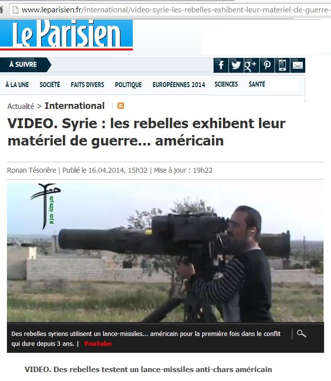 De l'armement américain atterrit chez les islamistes syriens Missil10