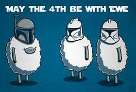 May the Fourth be with you - Happy Star Wars day! Thrs9710
