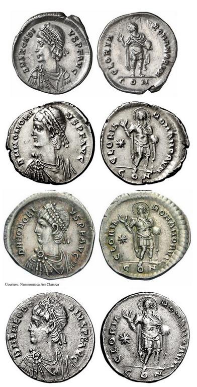Comparaison de coins du Miliarense de Théodose II   - Page 2 Arca_b10