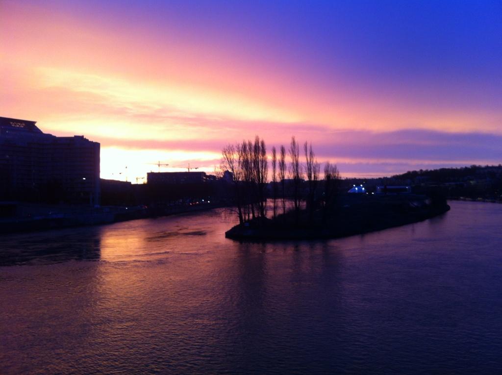 Ce matin il y avait juste un très beau lever de soleil sur l'île séguin Img_1712