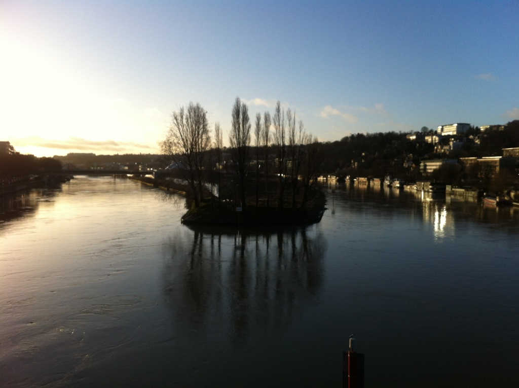 Ce matin il y avait juste un très beau lever de soleil sur l'île séguin Img_1717