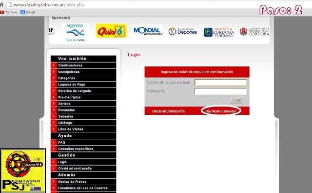 Pasos para registrarse en la pagina oficial de Rio Pinto. Captur20