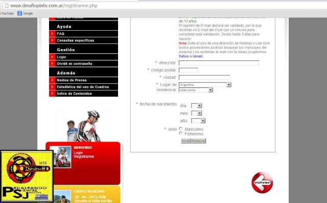 Pasos para registrarse en la pagina oficial de Rio Pinto. Captur22