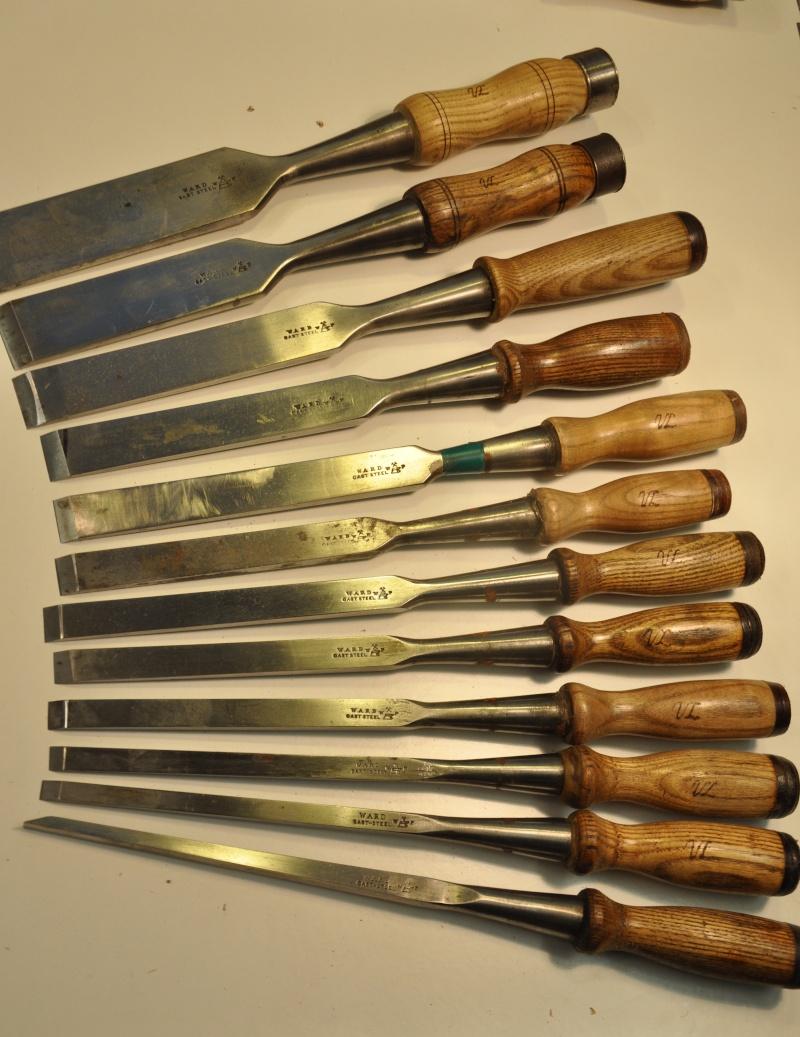 Tournage d'un manche de ciseau à bois munie d'une soie  ( turning a handle for a tang type chisel) 01110