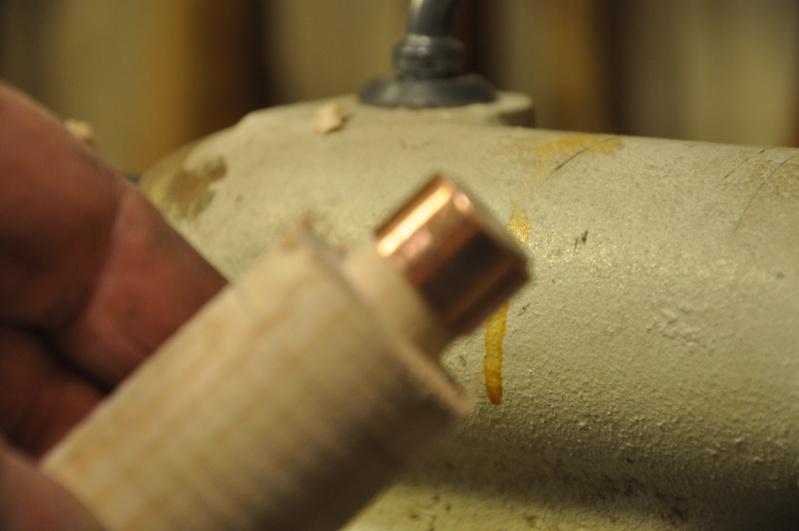 Tournage d'un manche de ciseau à bois munie d'une soie  ( turning a handle for a tang type chisel) 07510