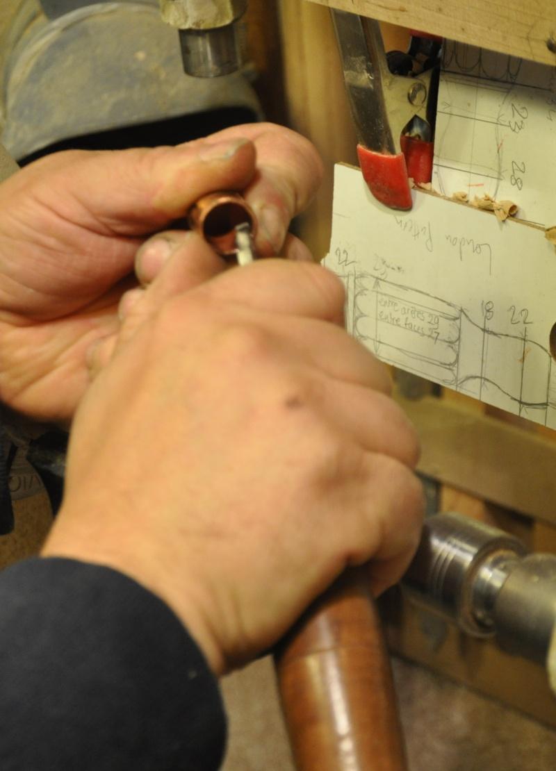 Tournage d'un manche modele londonien en buis. Making  a London pattern boxwood  chisel handle. London20