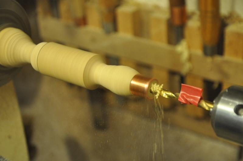 Tournage d'un manche modele londonien en buis. Making  a London pattern boxwood  chisel handle. London48