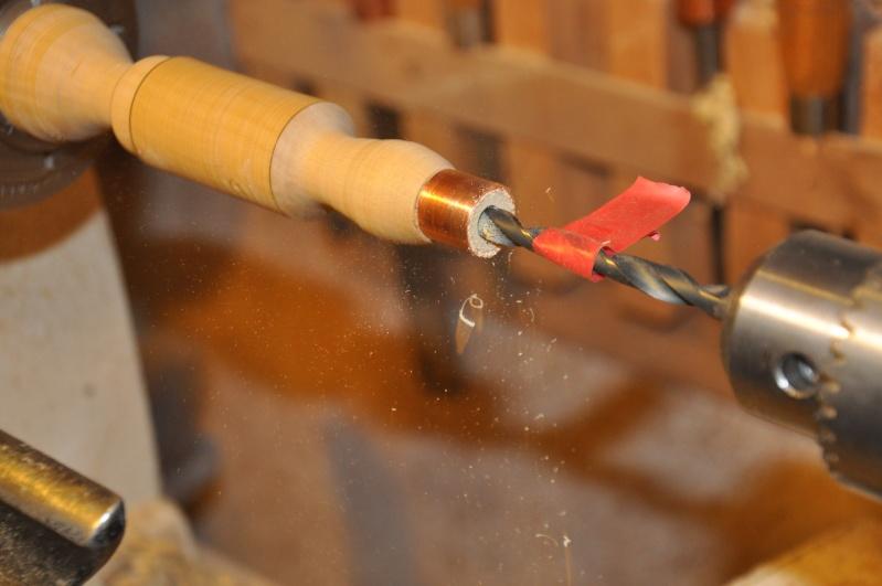 Tournage d'un manche modele londonien en buis. Making  a London pattern boxwood  chisel handle. London52