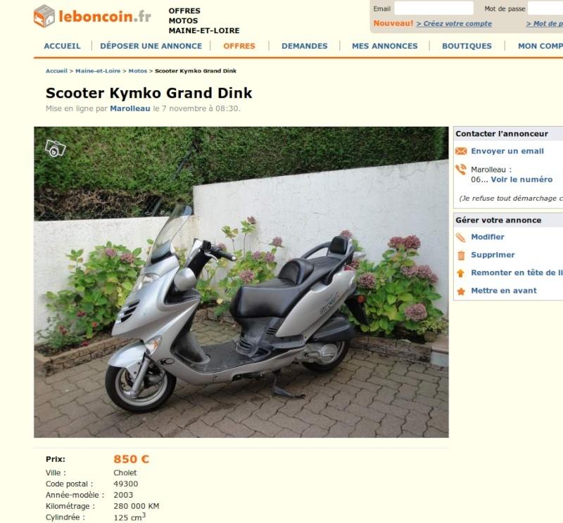 A vendre kymco grand dink 280 000 km Kymco_11