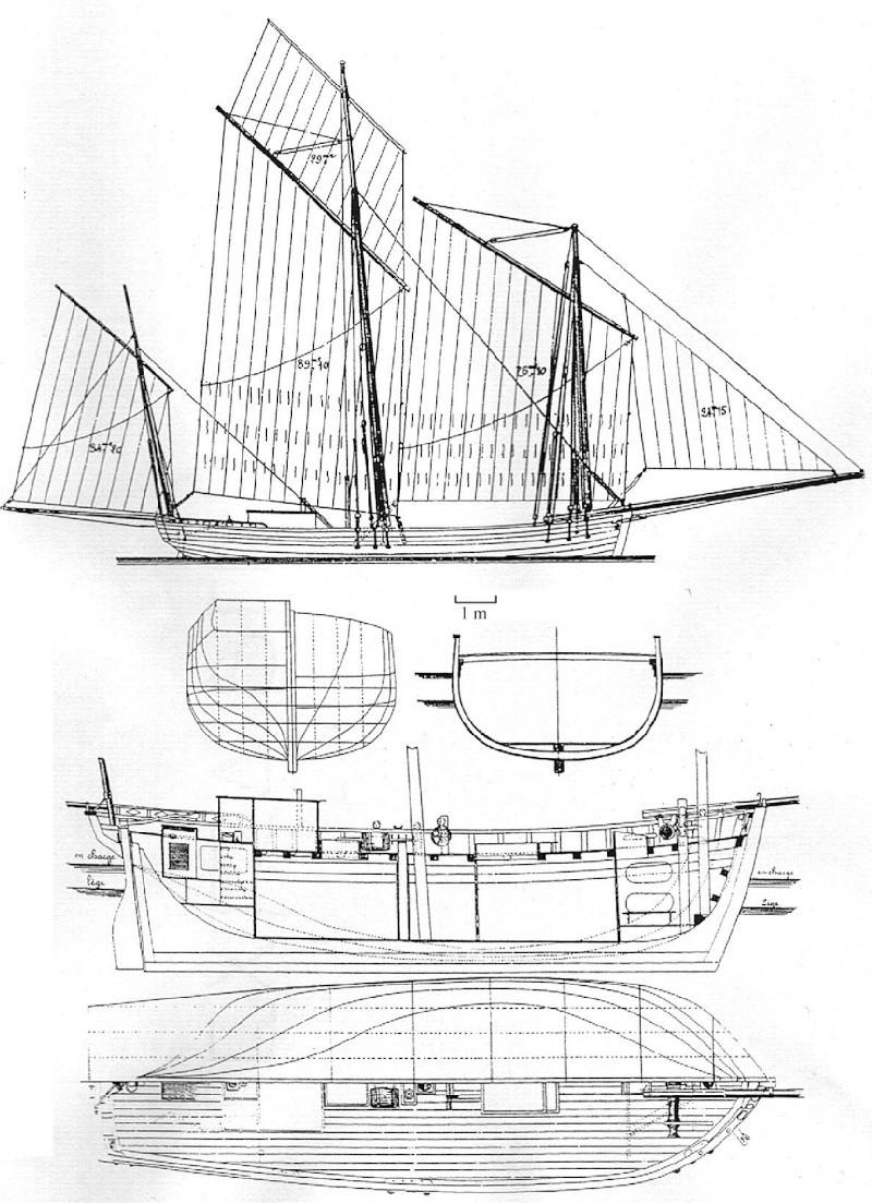Plan sloop caseyeur Langou10