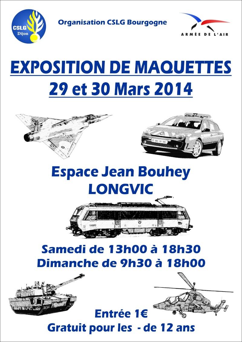 Expo à Longvic (Bourgogne) les 29 et 30 mars. Affich11