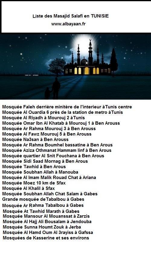 liste des mosquées salafiya en TUNISIE Nuit-d10