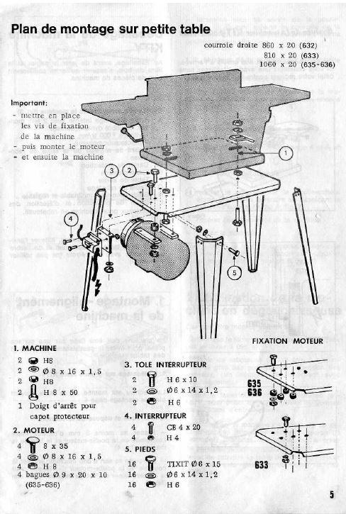"""Montage machines Kity sur """"petite table"""" Plan_d13"""