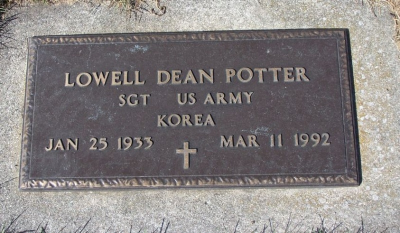 Dog Tags Sergeant Lowell D POTTER 37481710