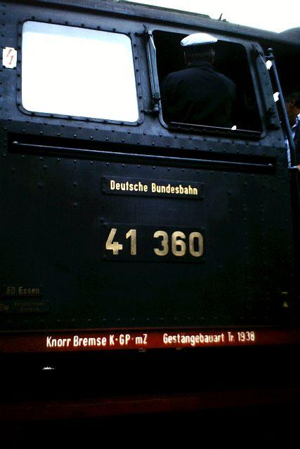 41 360 und 74 1192 auf der Westerwaldbahn 1986 1011