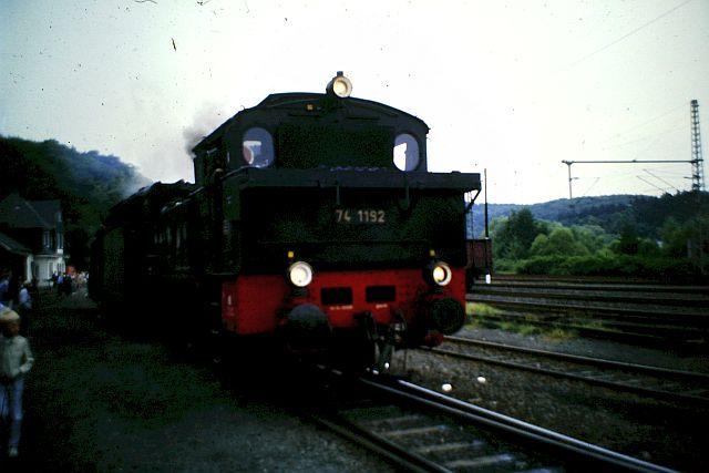 41 360 und 74 1192 auf der Westerwaldbahn 1986 163