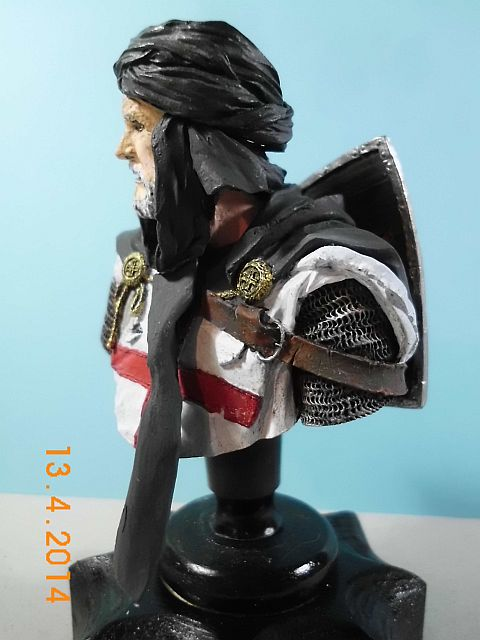 YH 1827 - Templar Knight in Jerusalem - Resinbüste 1/10 - Galerie 2108