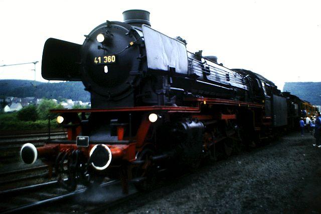 41 360 und 74 1192 auf der Westerwaldbahn 1986 258