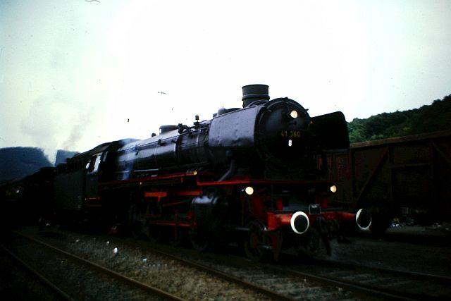41 360 und 74 1192 auf der Westerwaldbahn 1986 350