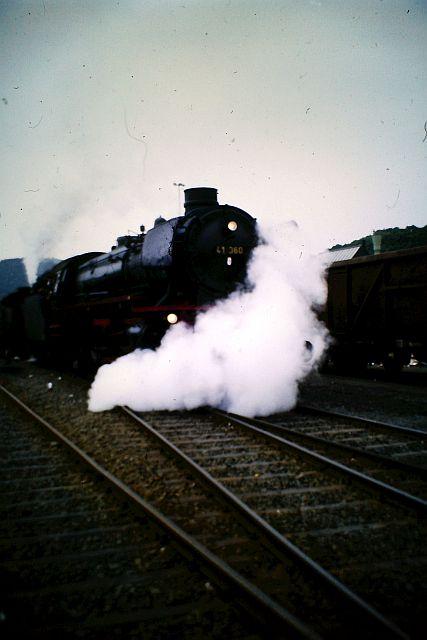 41 360 und 74 1192 auf der Westerwaldbahn 1986 436