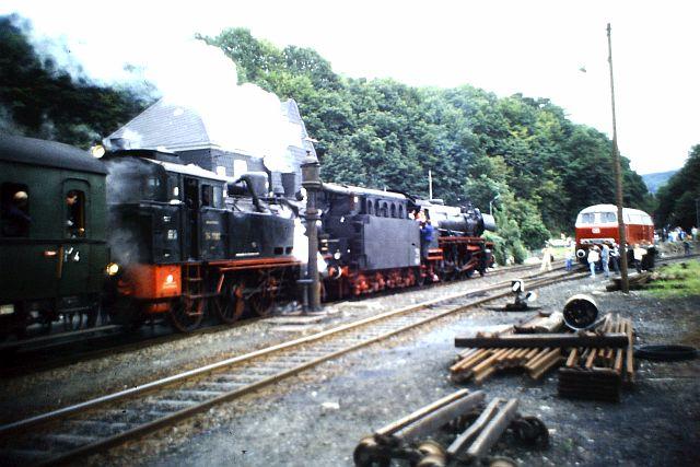 41 360 und 74 1192 auf der Westerwaldbahn 1986 527