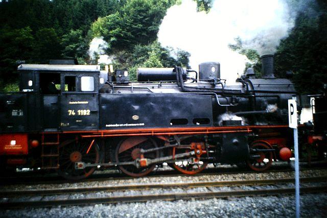 41 360 und 74 1192 auf der Westerwaldbahn 1986 622