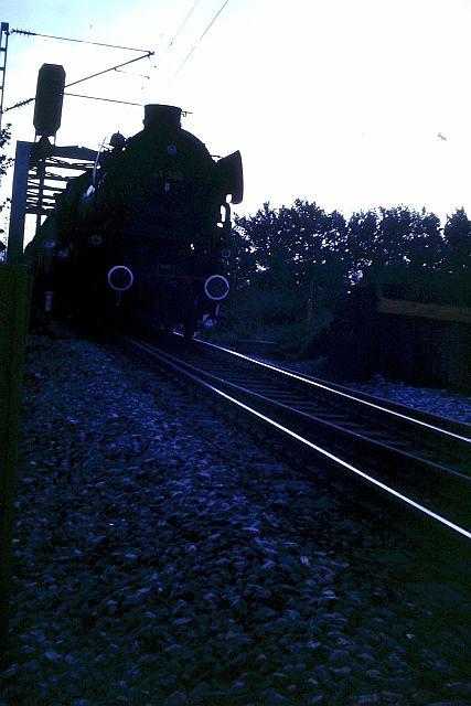 41 360 mit 74 1192 und RAG D08 auf der WbHE in Wanne 1986 718