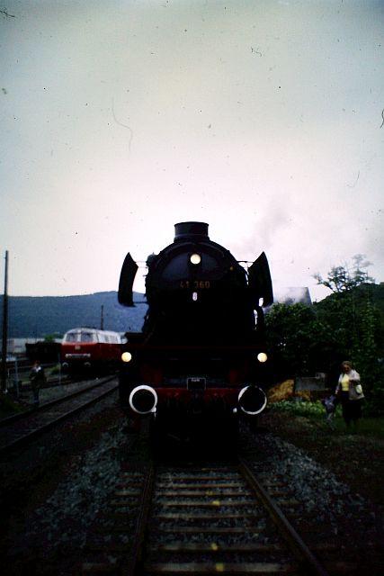 41 360 und 74 1192 auf der Westerwaldbahn 1986 912