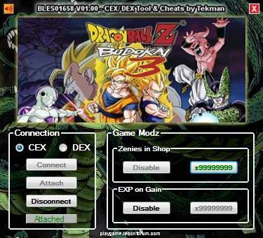 [PS3] Dragon Ball Z Budokai 3 V01.00 Tool CEX/DEX (EUR) by Tekman Captu101