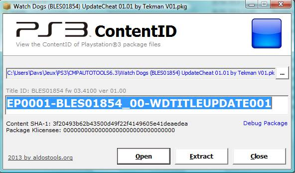 TUTO: Conversion d'un package (.pkg) CEX pour PS3 DEX Captu116