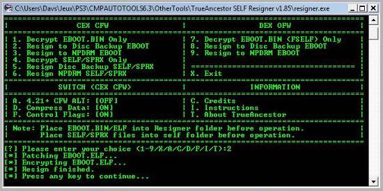 [PS3] Modification d'EBOOT & Création de PKG: Service Technique Captur14