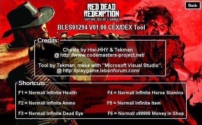 [PS3] Red Dead Redemption GOTY V01.00 Tool CEX/DEX (EUR) by Tekman Captur90
