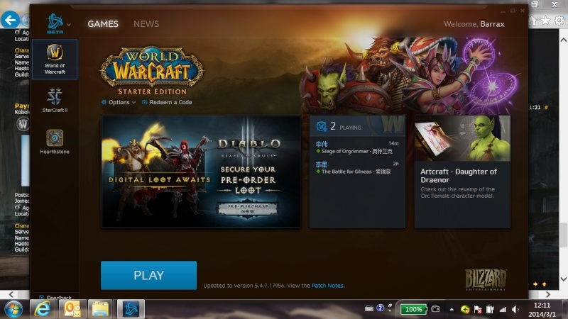 Hearthstone came with a new bnet client now can't patch wow Doh10