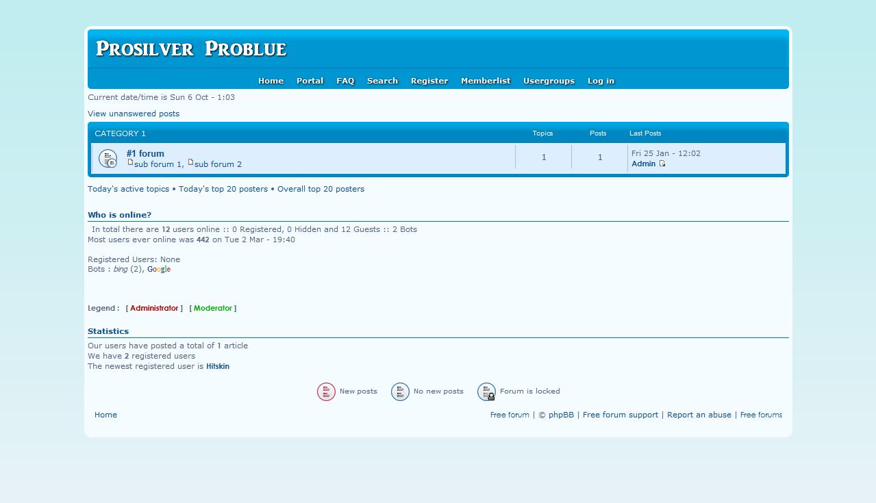 Prosilver Problue - phpbb3 Cap10