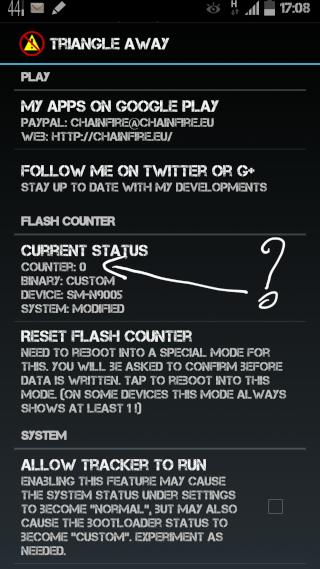[APPLICATION ANDROID - TRIANGLE AWAY] Reset du compteur de flash sur les Samsung [GRATUIT/PAYANT] 2014-017