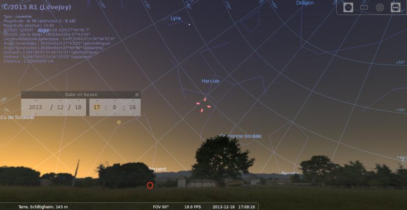 Lovejoy dans Carte du ciel Stella10
