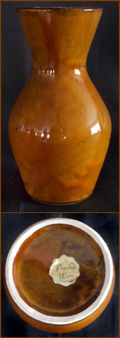 Titian Presley Ware White Crackle Glaze Planter, Black B206,Two Brown Vases  Dscn0734