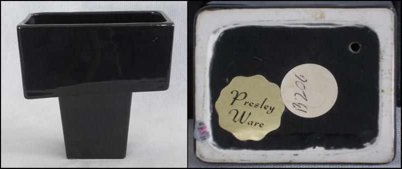 Titian Presley Ware White Crackle Glaze Planter, Black B206,Two Brown Vases  Dscn0811