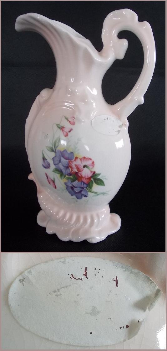 Aquila Pink Flower Jug Dscn0812