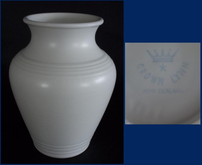 Is this white 15cm Crown Lynn Vase hand potted? Dscn0823