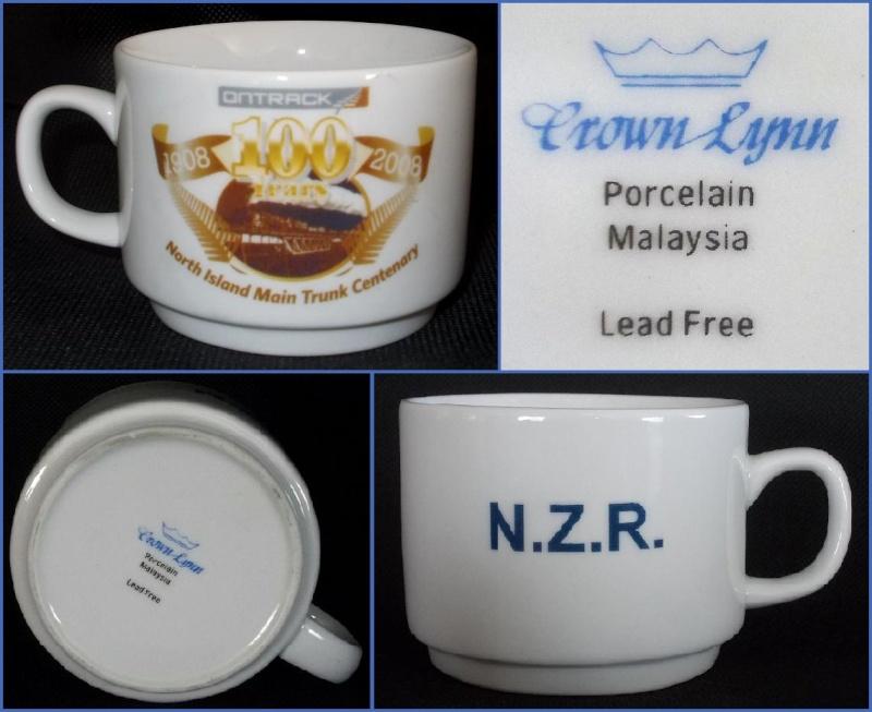 "Porcelain Malaysia ""Crown Lynn"" 1908-2008 Ontrack Centenary cup. Dscn0825"