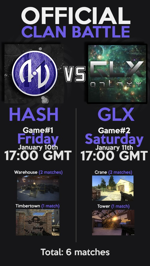 Official clan war vs -|GLX|- on 01/10/2014 and 01/11/2014 - 17:00GMT Battle11