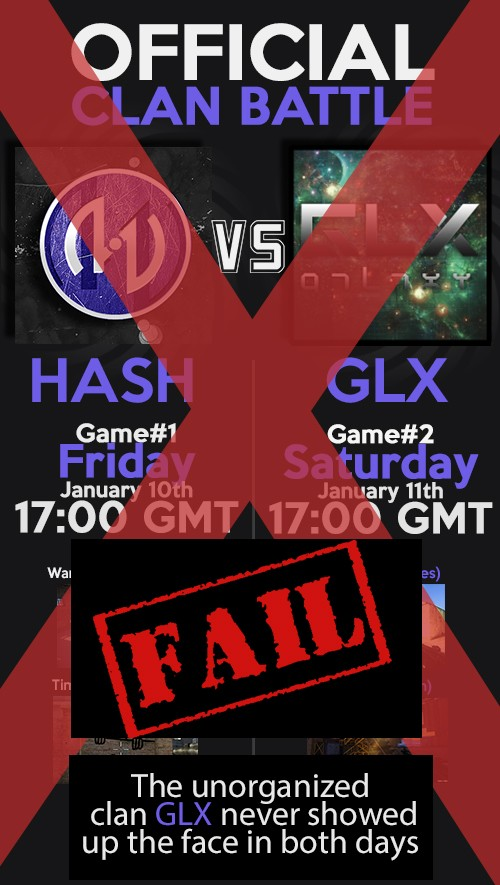 Official clan war vs -|GLX|- on 01/10/2014 and 01/11/2014 - 17:00GMT Fail10