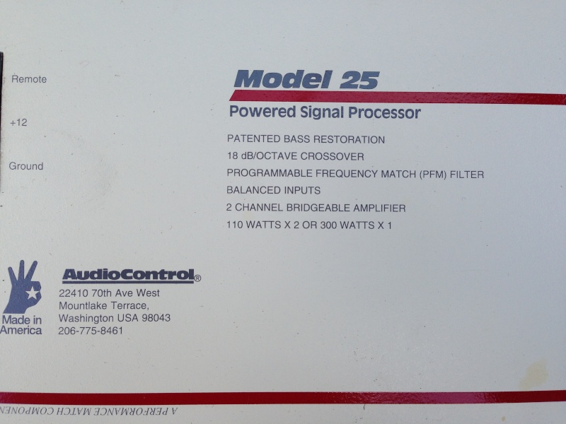 Audio Control System 90 Model 25 Power Amplifier Img_1112