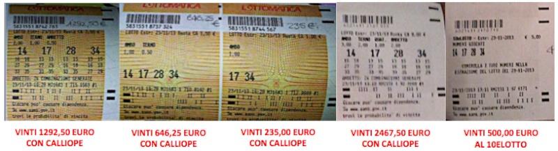 "GIUSEPPE CHIARAMIDA | 13/14 GENNAIO 2014 | AL TERZO COLPO AMBETTO 34-55 SU BARI DAL METODO ""LOTUS"" - Pagina 2 Callio11"