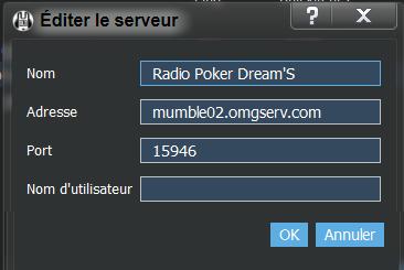 mumble de la radio Connec12
